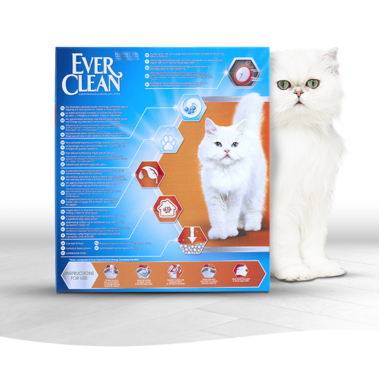 Ever Clean Super Premium Clumping Cat Litter Fast Acting Odour Control Product Image with Litter tray